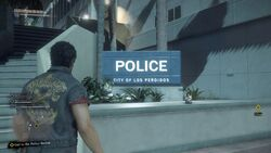 Police Department. Sign