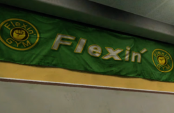 Flexin' Banner with PP Sticker