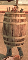 Dead rising case 0 large barrel on zombie