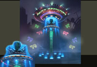 Dead rising 2 Off the Record concept art from main menu art page RIDE ALIEN ABDUCTION