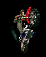 Dead rising machinegun bike ready hitting wall