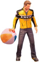 Dead rising beach ball holding