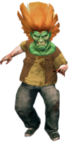 Dead rising goblin mask on zombie