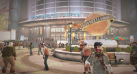 Dead rising Fortune City Arena near globe