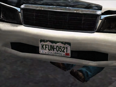 Dead rising license plate