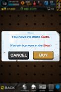 Not enough guts