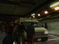 Dead rising hunk of meat zombies chasing after