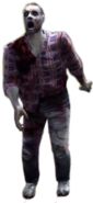 Dead rising zombie plaid red and blue shirt