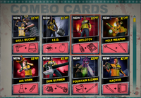 Dead rising Combo Card sheet of 8 (3)