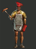 Dead rising 2 Off the Record concept art from main menu art page DLC downloadable content clothing bbq chef