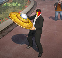 Dead rising 2 off the record Giant Spaceship Toy holding