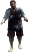 Dead rising zombie woman fat blue shirt