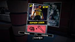 Dead Rising 2 - Espada láser - Carta Combo Recompensa