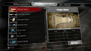 Power Shout Blueprints