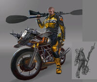 Dead rising 2 Off the Record concept art from main menu art page chuck as psycho (2)
