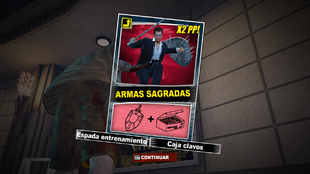 Combo OTR - Armas sagradas - Recompensa