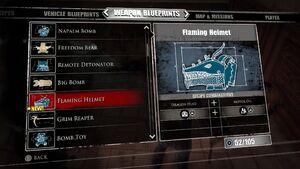 Flaming Helmet Blueprints