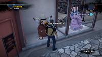 Giant stuffed bull location 1
