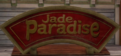 Jade Paradise Sign with PP Sticker