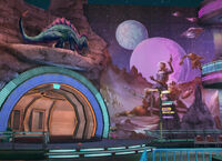Dead rising URANUS ZONE fortune park entrance dinasour and space man entrance