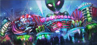 Dead rising 2 Off the Record concept art from main menu art page URANUS ZONE