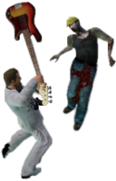 Dead rising guitar hiting zombies xbox com background modified WATERMARK