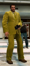 Dead rising clothing Yellow Suit with Yellow Striped Tie