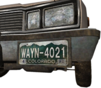 Dead rising WAYN-4021 license plate colorado april 1992
