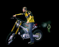 Dead rising broken bike ready holding