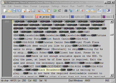 Dead rising 2 mod text with notepad plus plus (3)