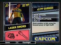 Dead rising 2 combo card Laser Sword (Dead Rising 2)