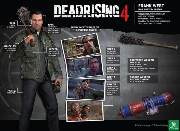 Frank West' resume - Dead Rising 4