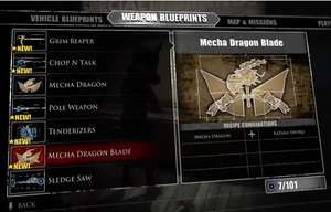 Mecha Dragon Blade Blueprint