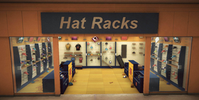 Royal Flush Plaza - Hat Racks