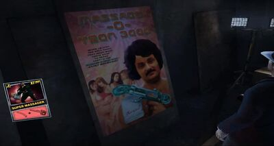 Dead rising Super Massager poster location