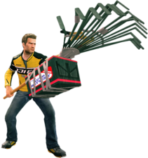 Dead rising electric rake holding