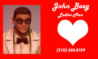 John Boog business card