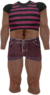 Dead rising Pink and Black Striped T-shirt with Pink Jean Shorts