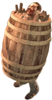 Dead rising case 0 large barrel on zombie (2)