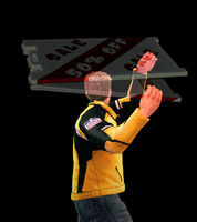 Dead rising sandwich board throwing