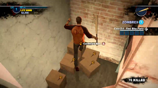 Dead rising 2 case 0 cardboard box next to fire stairs
