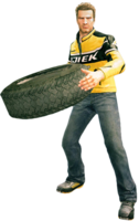 Dead rising tire holding