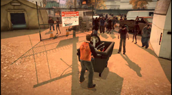 Dead rising 2 Case case 0-3 utility cart pushing 02 quarantine