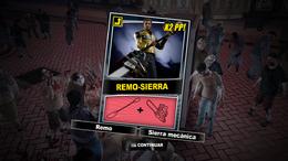Dead Rising 2 - Remo-sierra - Carta Combo Recompensa