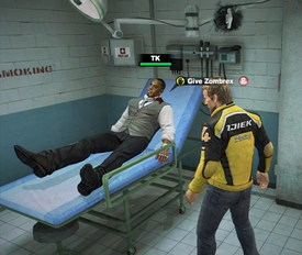 Dead rising 2 give zombrex to tyson at bed