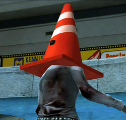 Dead rising pylon on zombies head