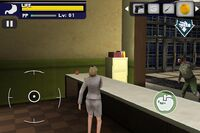 Dead rising mobile jessica behing counter with orange