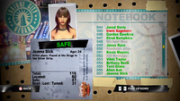 Dead Rising jeanna notebook