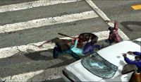 Dead rising 365 man atop white car