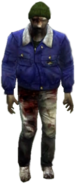 Dead rising zombies green hat blue jacket